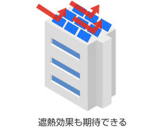 遮熱板としても機能する太陽光パネル