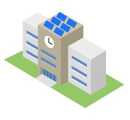 学校に太陽光発電システムを導入